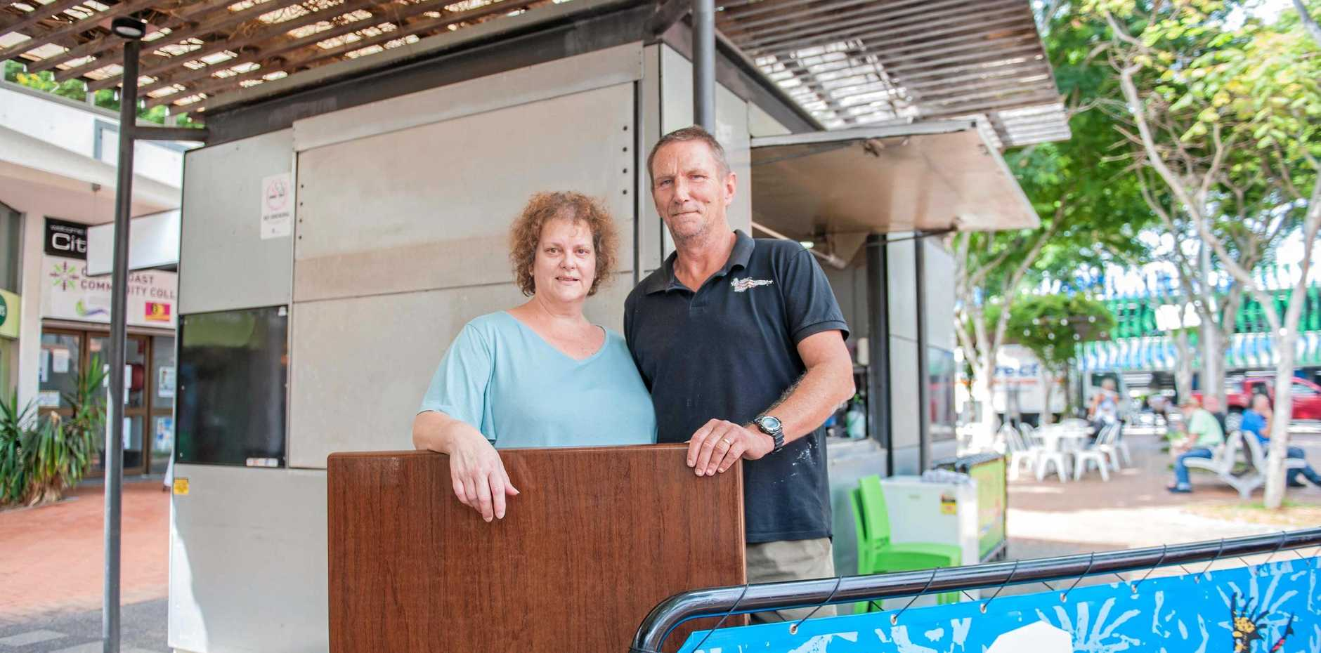 SELLING UP: Caffeine Central owners Kym Watson and Steven Calder closing up shop on Monday.