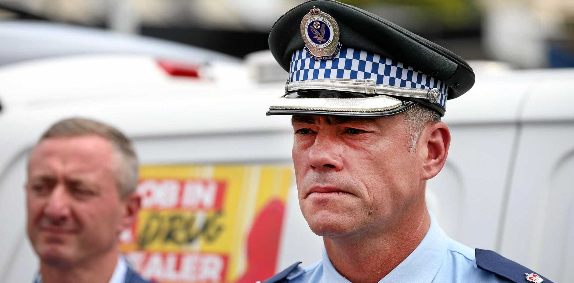 DRUG CAMPAIGN: Tweed Byron Police District Acting Superintendent Brendan Cullen speaks with the media over the new Dob in a Drug Dealer campaign.