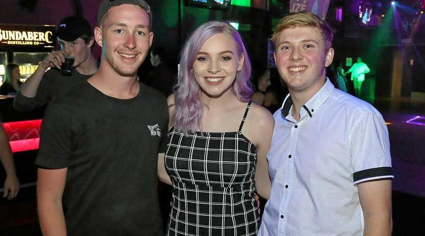 Tiff Barry, middle, at the Zodiac Nightclub