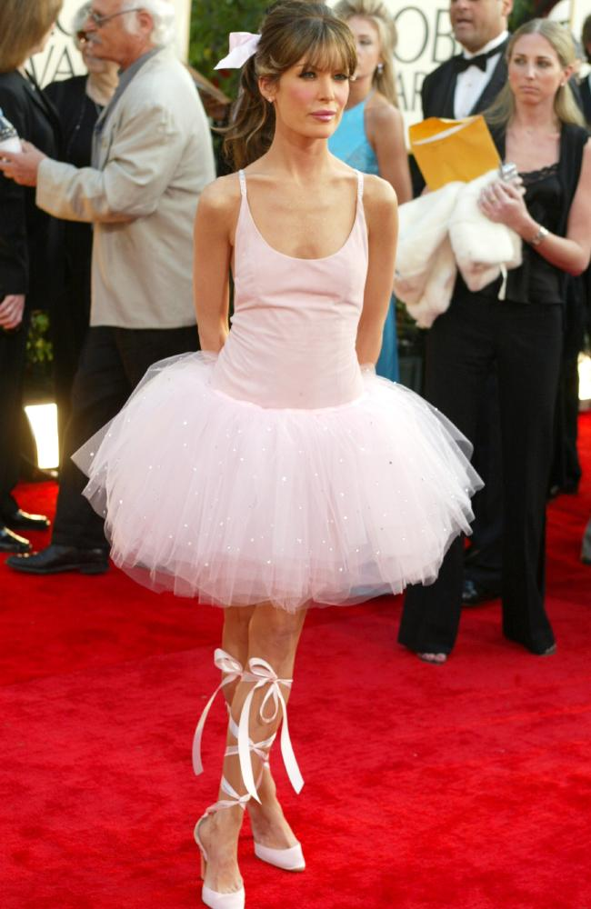Lara Flynn Boyle, if you were trying to look like a ballerina in 2003, you definitely succeeded. Picture: KW/Getty Images
