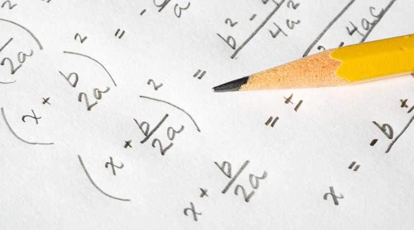 Algebraic equations and a pencil.
