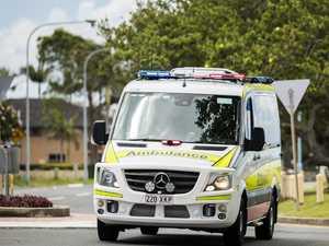 Critical injuries after car-truck crash