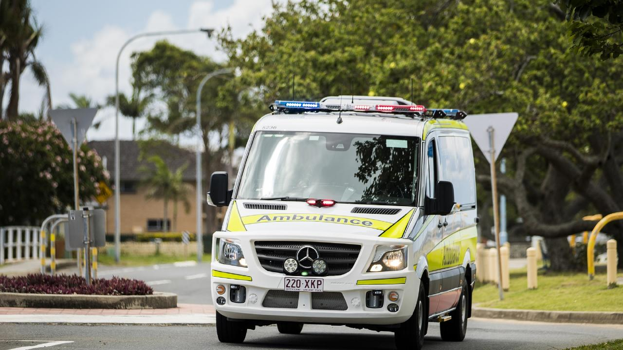 Two people have been taken to hospital following a crash near Jimboomba this morning.