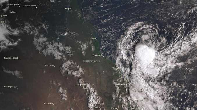 Ex-Tropical Cyclone Penny: Bureau of Meteorology satellite mapping of the tropical low tracking towards the North Queensland coast as at 7.10am on Monday, January 7 2019.