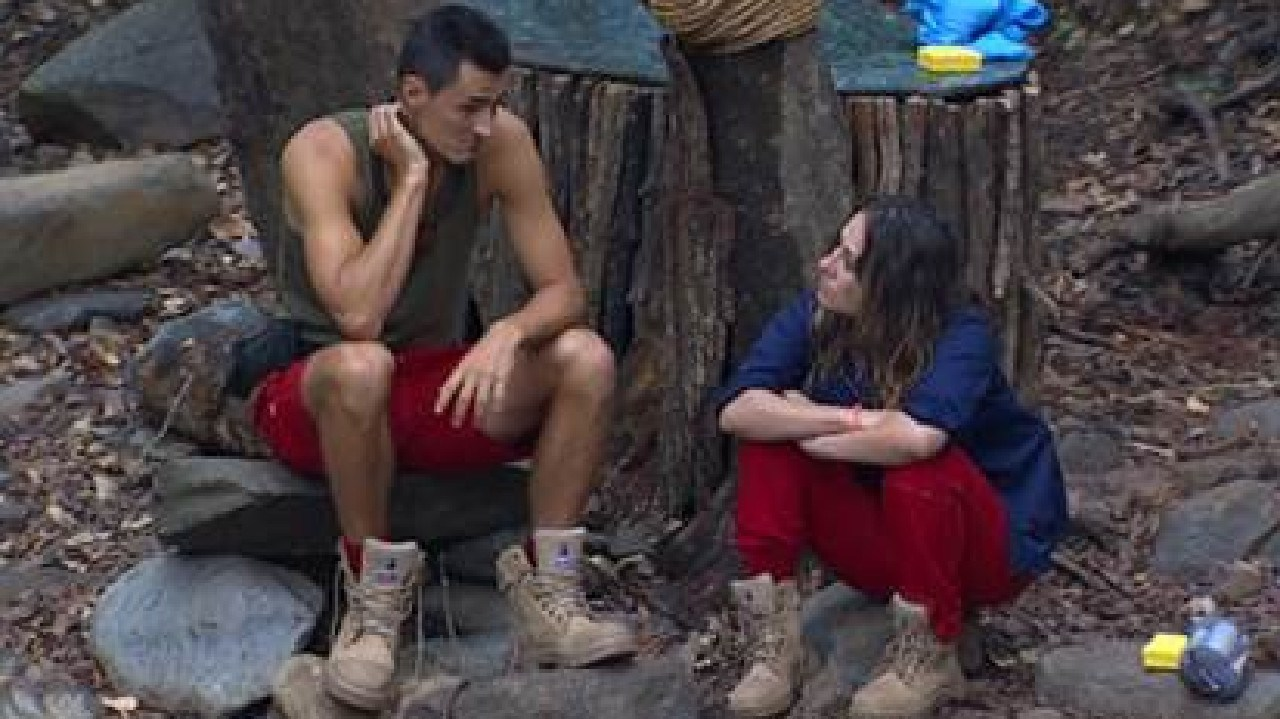 Bernard Tomic with Jackie Gillies before he leaves I'm A Celebrity … Get Me Out Of Here! Supplied: Network Ten