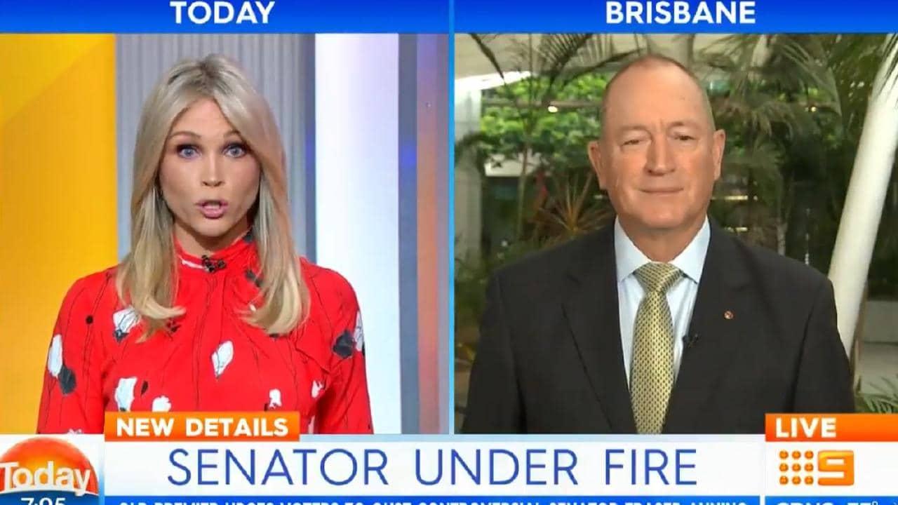 Lara Vella interviews Senator Fraser Anning.