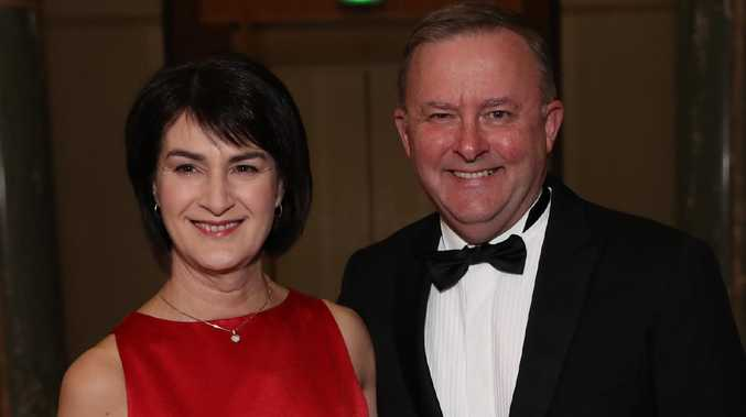 Anthony Albanese has announced he has split with partner Carmel Tebbutt. Picture at the midwinter ball at Parliament House in Canberra. Picture: Gary Ramage
