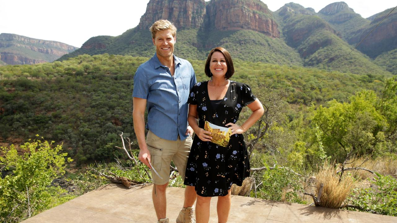 Chris Brown and Julia Morris, back in the jungle. Picture: Paul Ewart