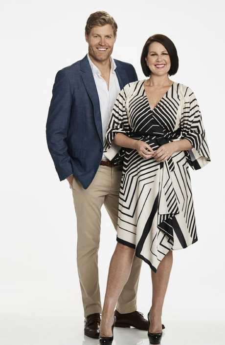Dr Chris Brown and Julia Morris, back for season five. Picture: Channel 10