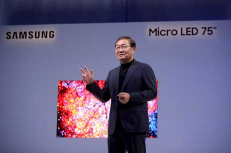 SPresident and head of Samsung's visual display business Jonghee Han at CES 2019