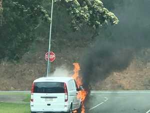 Van destroyed by fire in Coast hinterland