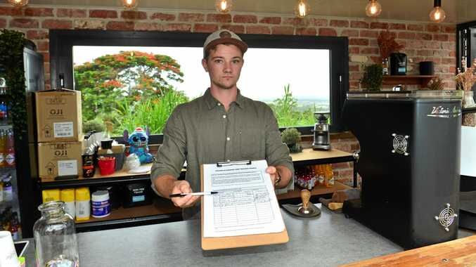 ESPRESS-NO: Jaydn Langdon of Rue Bourbon in Buderim is worried he may be shut down so has started a petition which has gained a huge response for loyal customers.