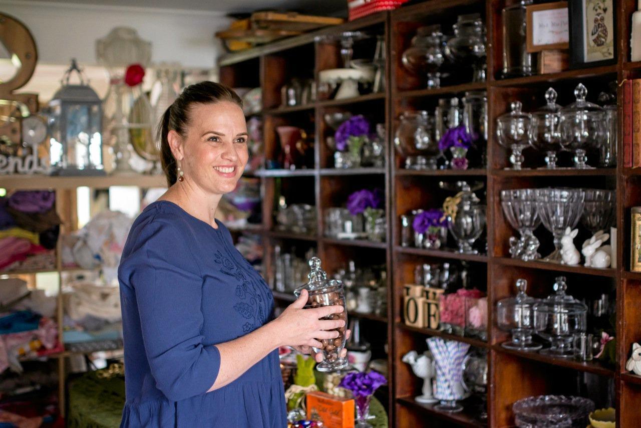 SWEET: Melanice Jacobsen in her new store on Targo St.