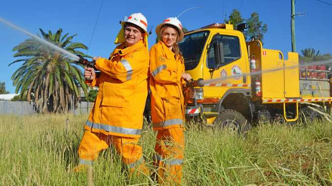 FIRIES NEEDED: Zac Fitzgerald and Caitlin Walker both started with the Charleville Rural Fire Brigade in 2015.