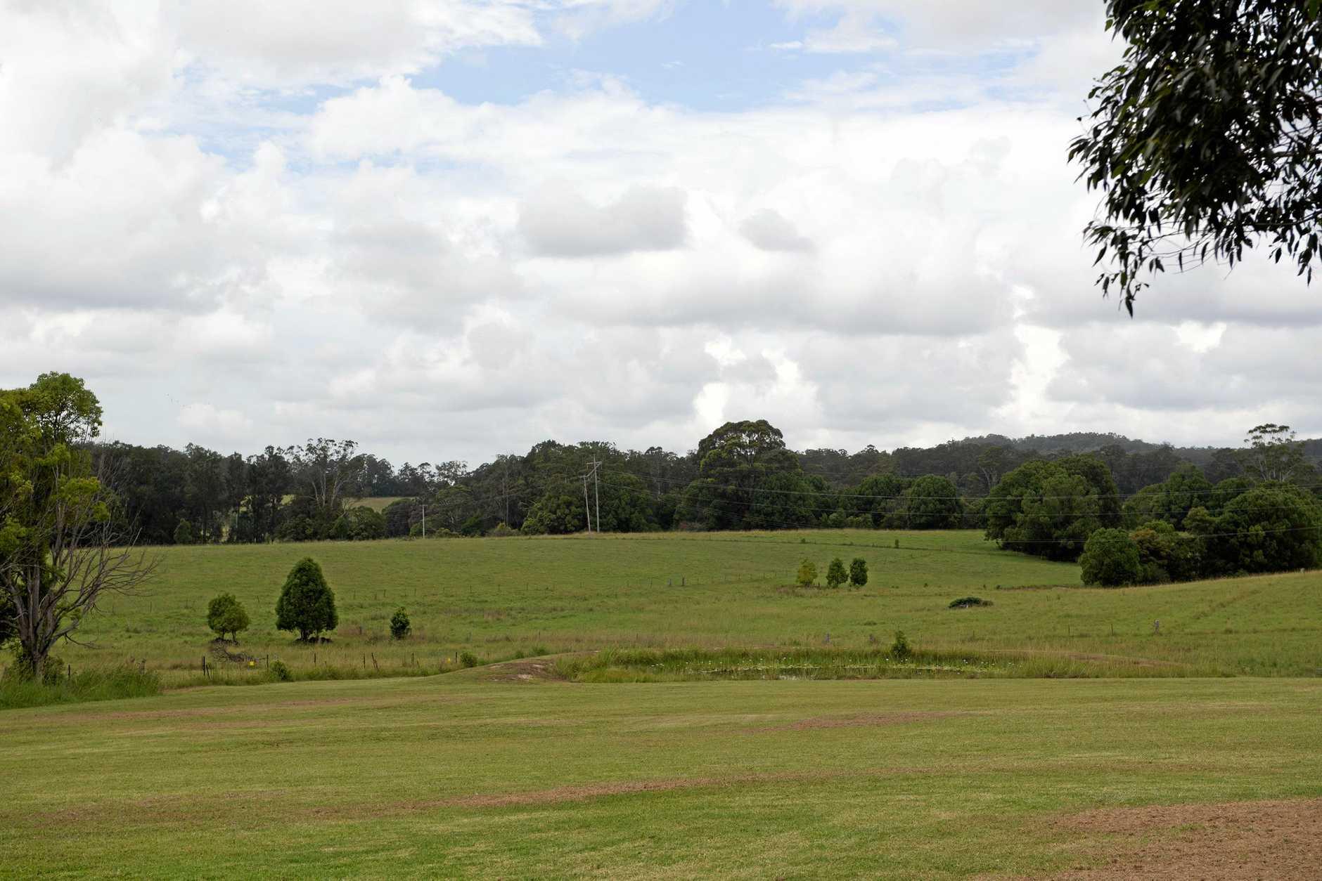 The proposed site of the solar farm off Ferrett's Rd.