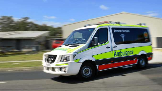Queensland Ambulance service confirmed two men were involved in the truck collision.