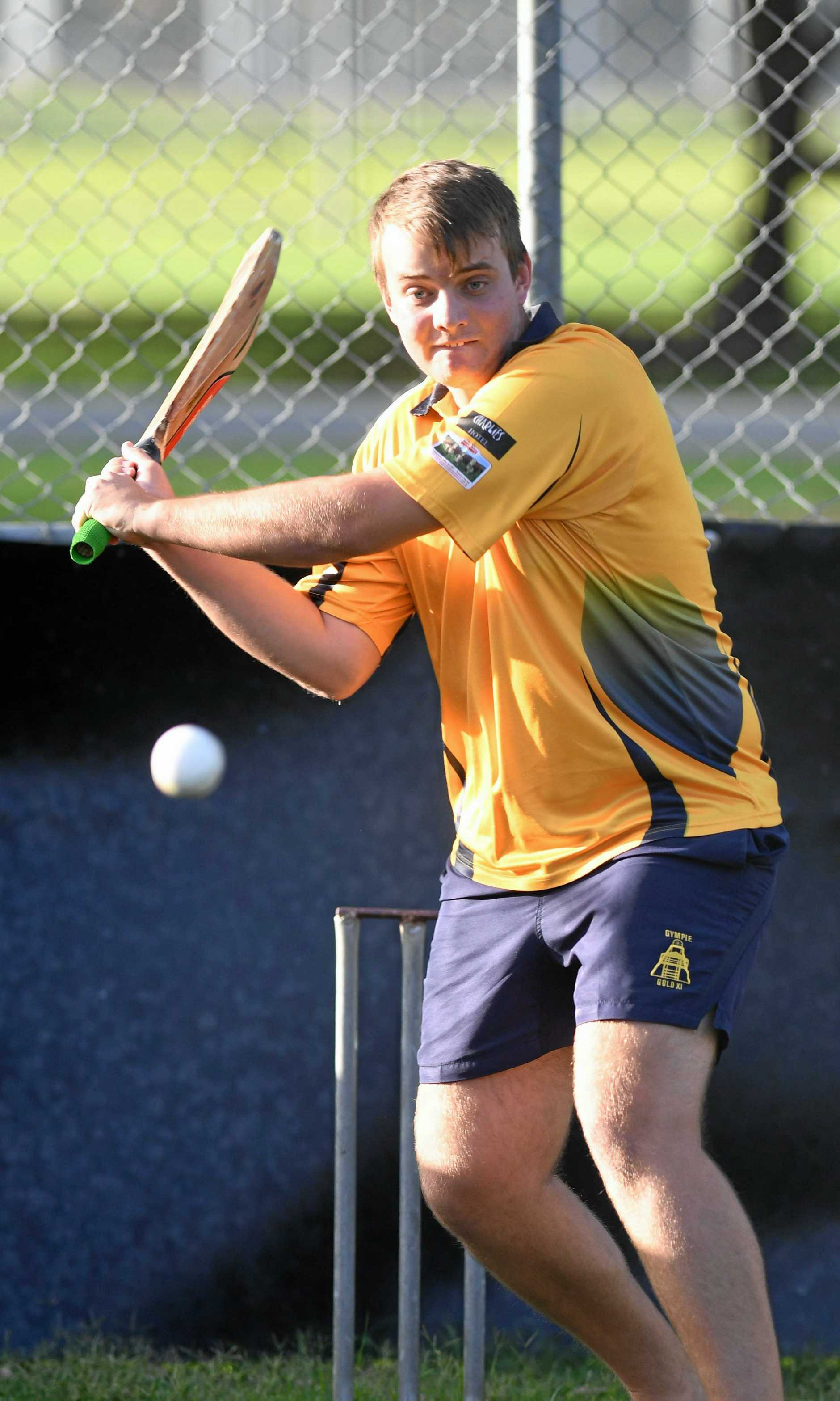 SOLID START: Gympie Gold's Nathan McClintock was in an opening partnership of 76 for Gold.