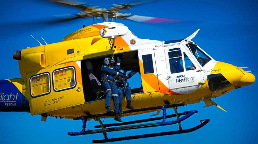 A motorcyclist will be airlifted.