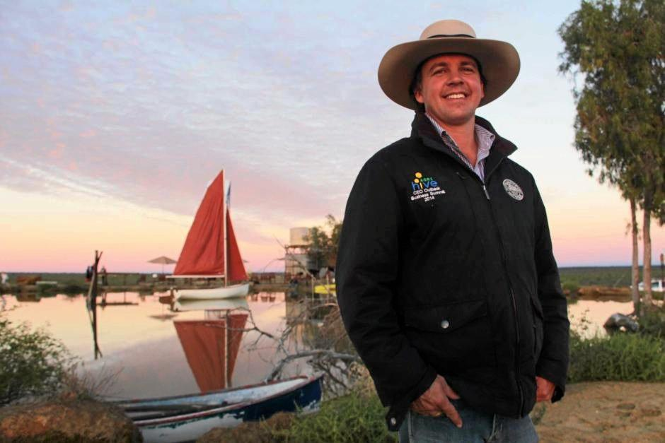 Longreach grazier James Walker has hatched a plan to establish the Outback Yacht Club on his property. ABC Western Qld: Blythe Moore