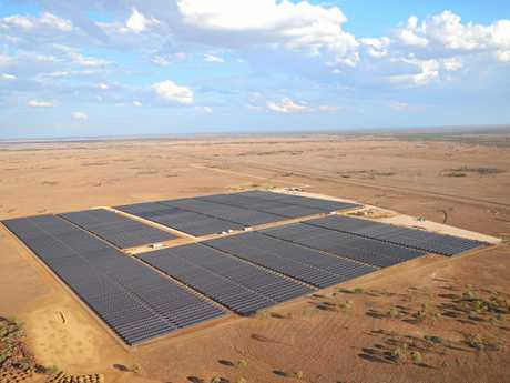 INCOME STREAM: The $29 million solar farm on Camden Park Station outside of Longreach is one way James Walker (inset) diversified his farming business.