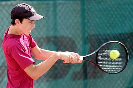 Maryborough tennis player Alec Braund.
