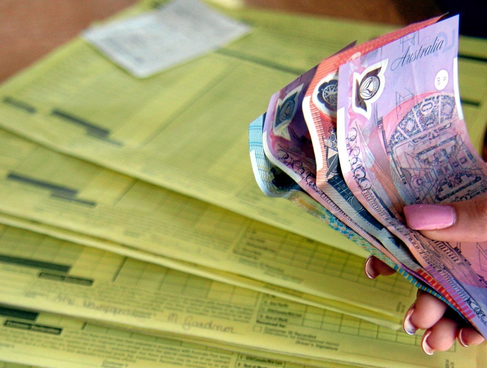 Money and bills generic crop.