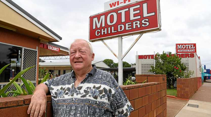 STALWART: Donald Jamieson outside the family-owned Motel Childers.