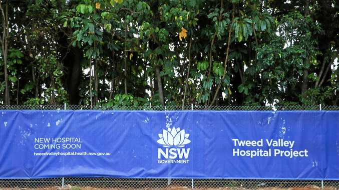 A security fence around the new Tweed Valley Hospital site at Cudgen.