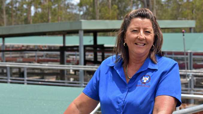 NEW YEAR'S START: Sharon Beutel of Dan Sullivan Livestock and Rural Services is looking forward to today's calf sale, Gympie's first big livestock auction for 2019.