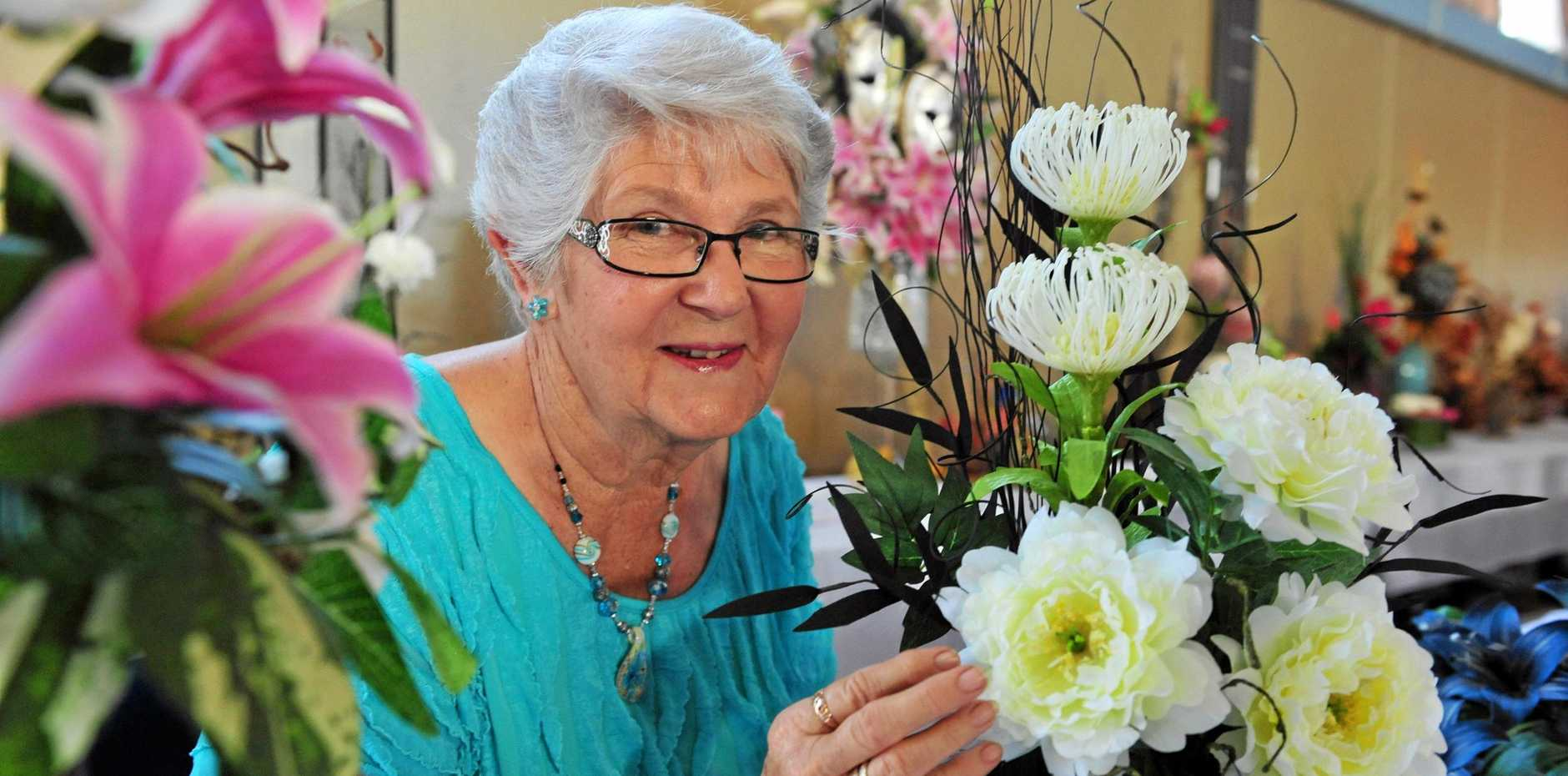 FUN DAY: Shirley Baldwin from the QCWA is looking forward to the group's next hoy and cent sale.