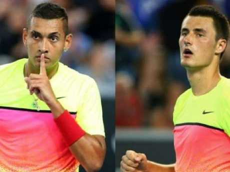 Nick Kyrgios and Bernard Tomic have a chequered past. Picture: Supplied.