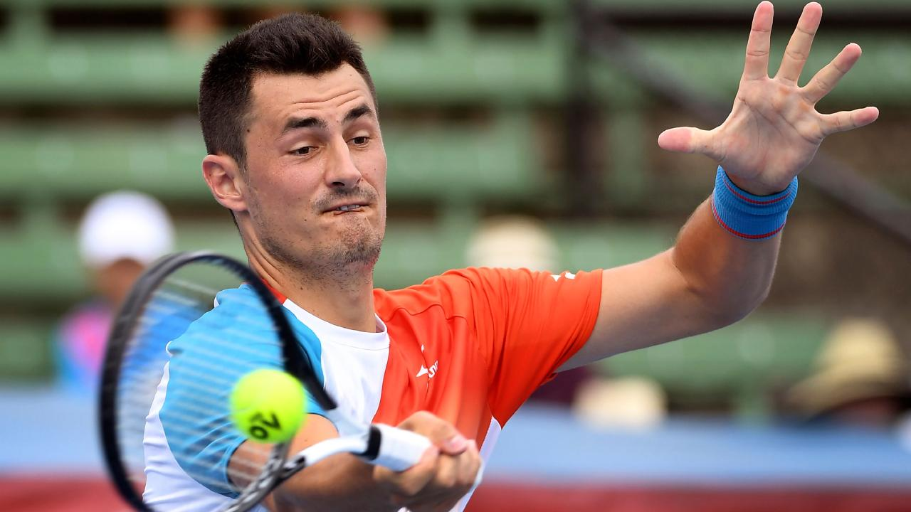 Bernard Tomic got his 2019 off to a great start. Picture: AFP Photo