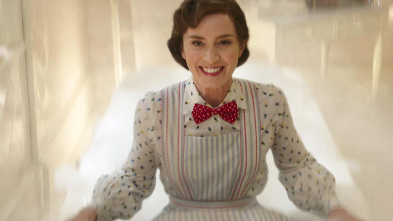 Emily Blunt as stars as the perfect nanny in Mary Poppins Returns. Picture: AP