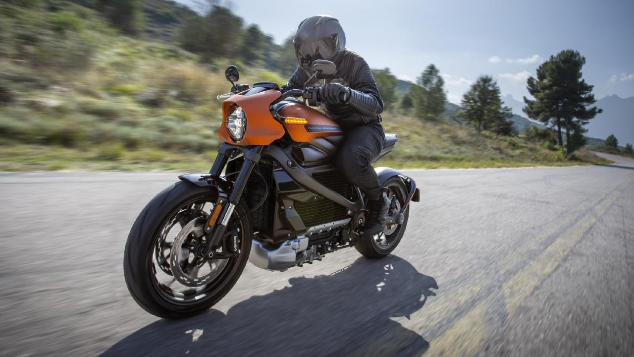 Harley-Davidson Livewire electric motorcycle.