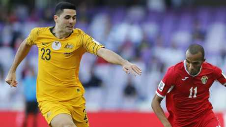 The 26-year-old received treatment in Al Ain following Sunday's game against Jordan. Picture: AP