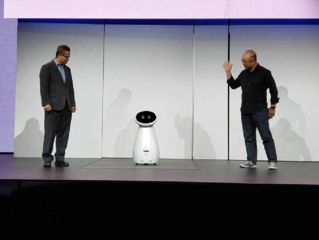 Samsung launches Bot Care at CES. Picture: Twitter/@sharatibken