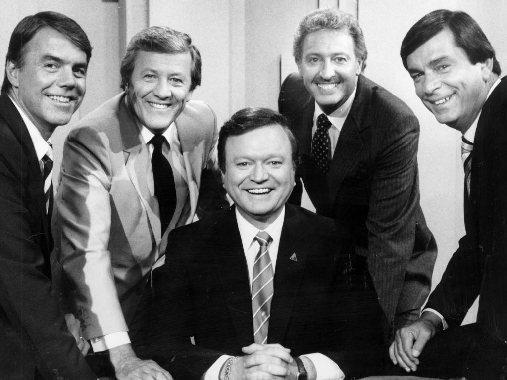 Jimmy Hannan (second from right) was one of a generation of TV hosts. Picture: Supplied