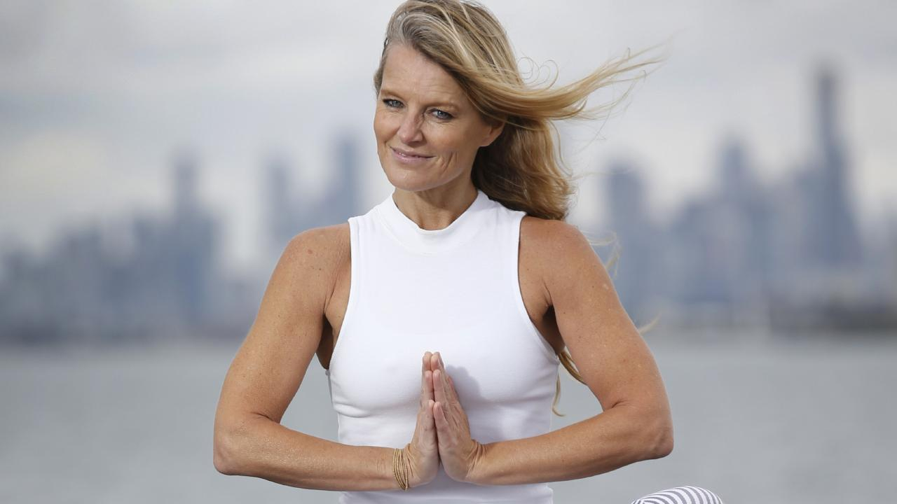 Simone Callahan has revealed yoga helped her 'let go' of the pain of her divorce from Shane Warne. Picture: David Caird