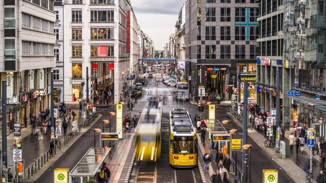 You'd be hard-pressed to find an overheard power cable on a Berlin street. Picture: iStock