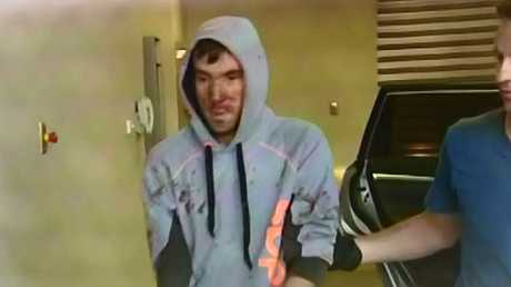 The arrest of Mark Stocco. Picture: Channel 9