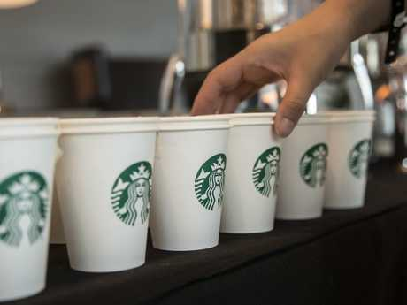 Starbucks reckons its mermaid queen logo speaks a thousand words, so they decided to feature zero.