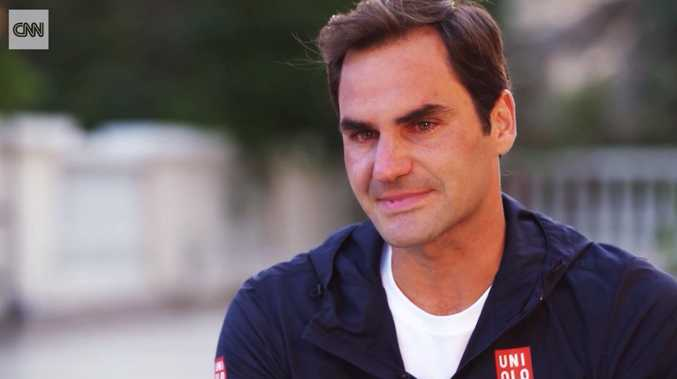 Roger Federer openly cried during an emotional interview.