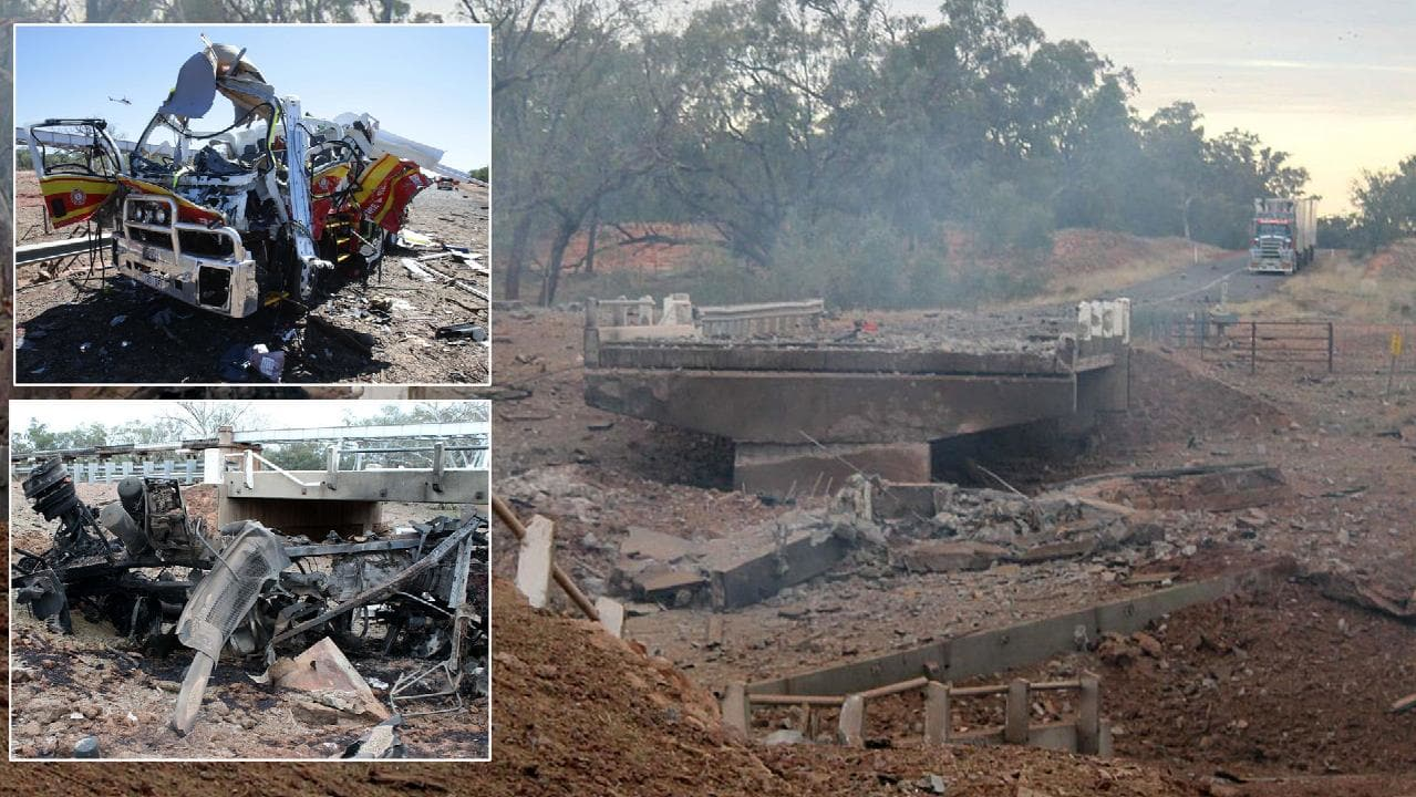 The scene of the Charleville truck explosion in 2014. The blast measured 2.1 on the Richter scale.