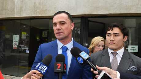 Shannon Noll outside court after pleading guilty to cocaine possession and was placed on a 12-month good behaviour bond. Picture: AAP Image/Dean Lewins