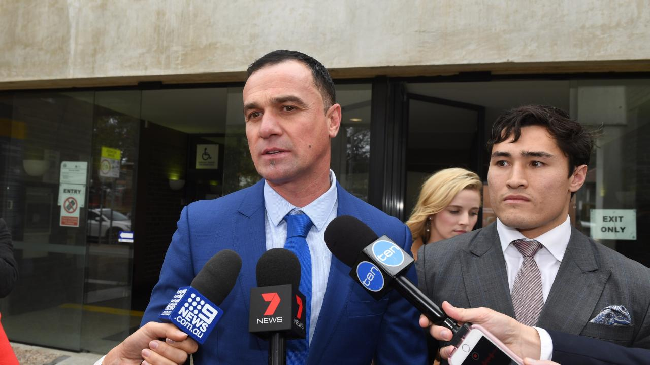 ShannonNoll outside court after pleading guilty to cocaine possession and was placed on a 12-month goodbehaviour bond. Picture: AAP Image/Dean Lewins