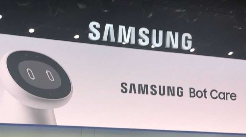 Samsung has unveiled a robot that can help people manage their health. Picture: Twitter/@mathewmurphy81