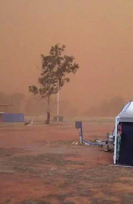 Towns were blanketed in dust. Picture: Wendy Holland