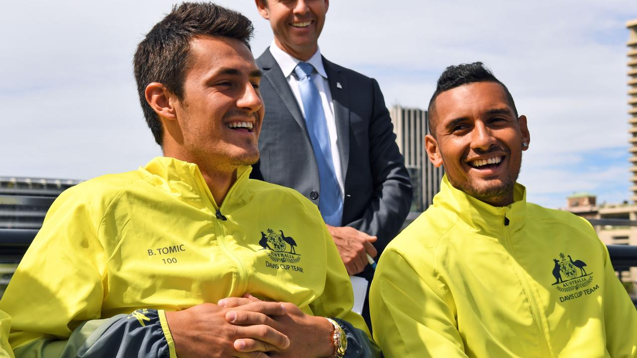 Bernard Tomic and Nick Kyrgios have patched up their differences.