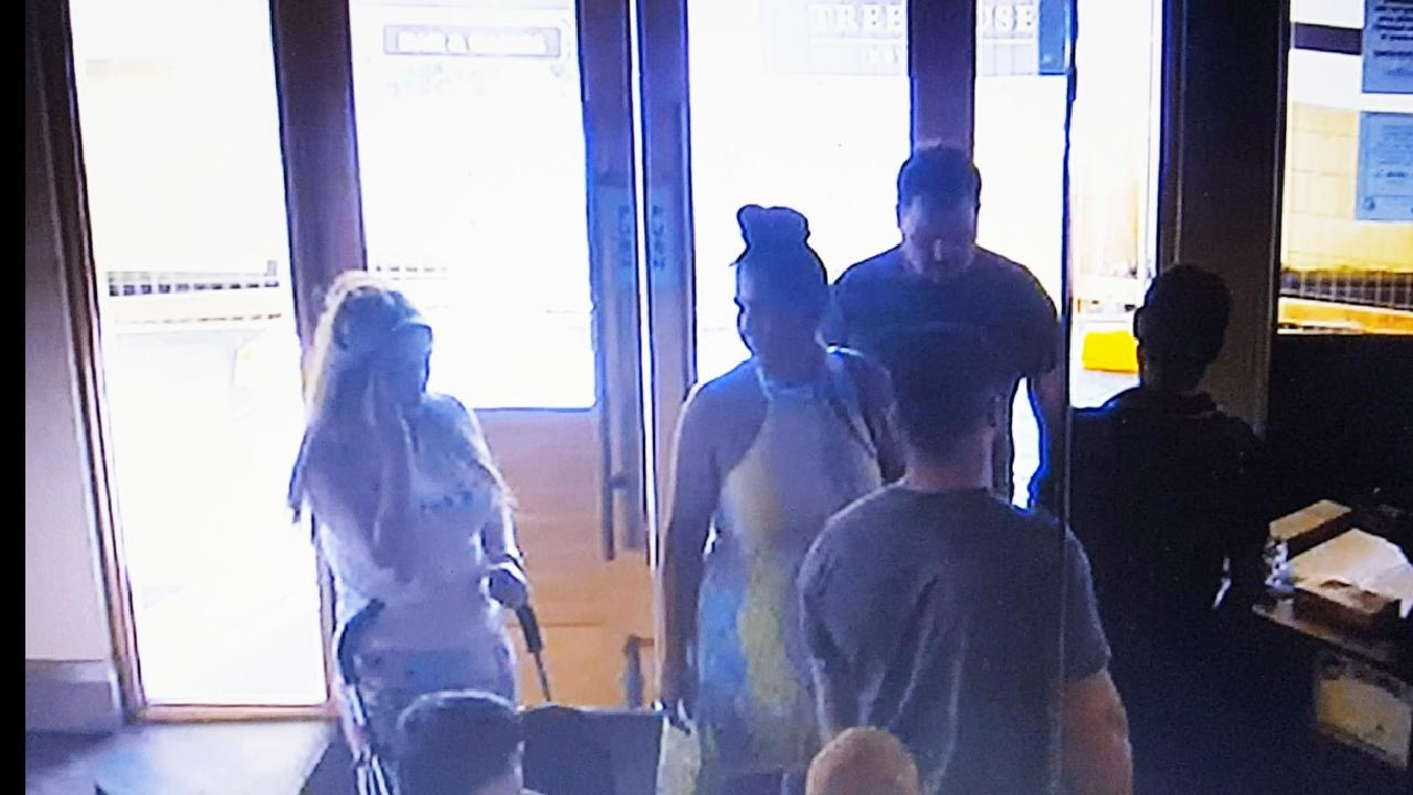 CCTV images at Outback Jacks Canberra of alleged scammers.