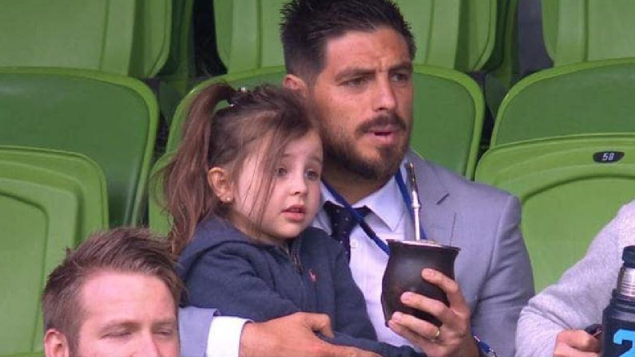 Bruno Fornaroli watches on from the stands.